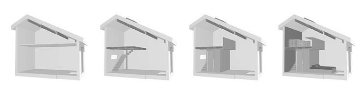 D & S _ Une chambre – Un bureau – Un dressing: Chambre de style  par Johany Sapet Design