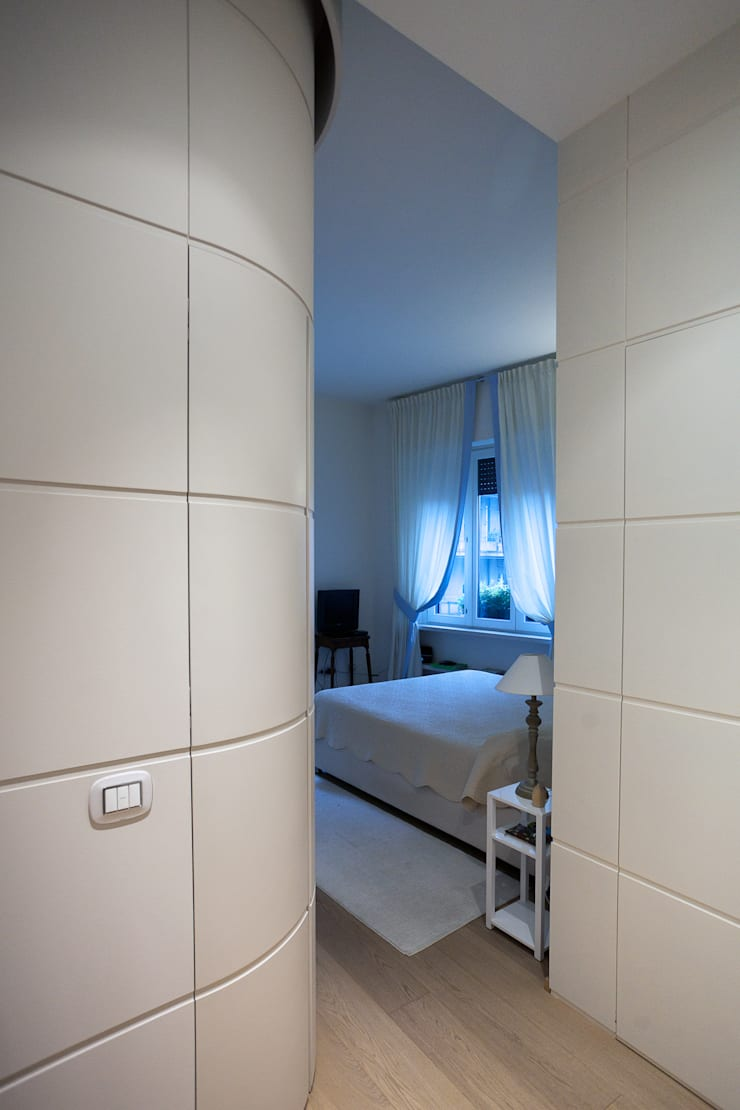 Vista sulla camera da letto: Case in stile  di Difinoarchitetti,