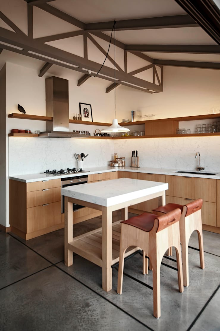 Houses by FLAT C/ ARCHITECTURE, Modern
