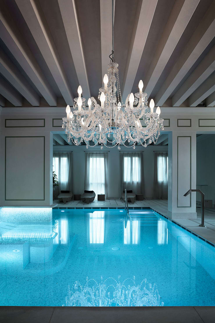 Chandelier for the outdoors and humid indoors - rated IP65:  Spa by Italian Lights and Furniture Ltd