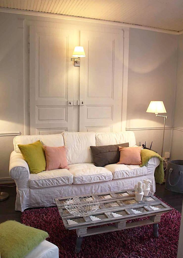 papier peint trompe l 39 oeil double porte by ohmywall homify. Black Bedroom Furniture Sets. Home Design Ideas