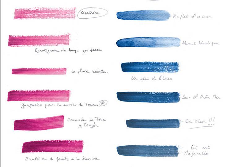 Papier peint NUANCIER United Colors of Ohmywall: Murs & Sols de style  par Ohmywall