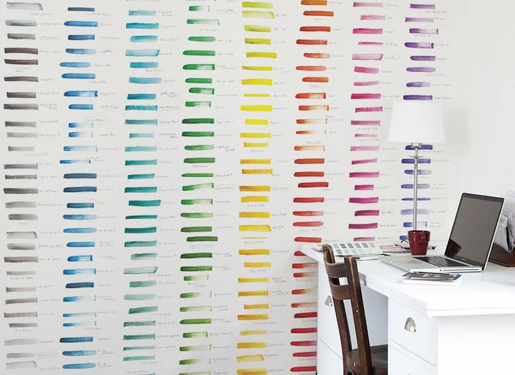 Papier peint NUANCIER United Colors of Ohmywall: Murs & Sols de style de style Moderne par Ohmywall
