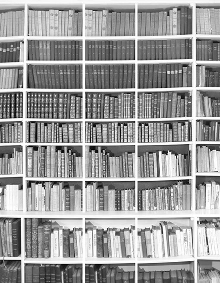 Papier Peint Bibliotheque Noir Et Blanc Par Ohmywall Homify