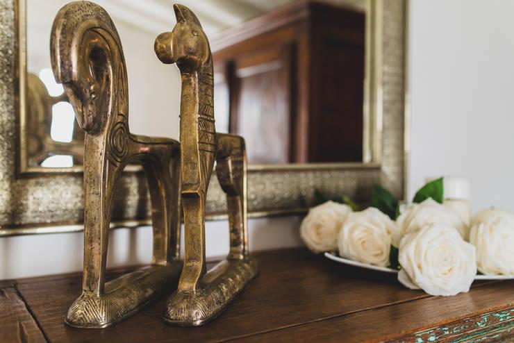casa unifamiliare nella campagna toscana: Sala da pranzo in stile  di enrico marradini ARCHITETTO,