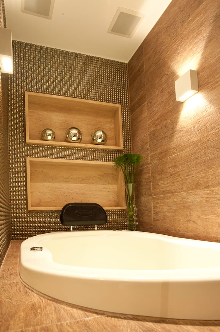 Banho : Salas de estar  por Leles Arquitetura e Iluminação