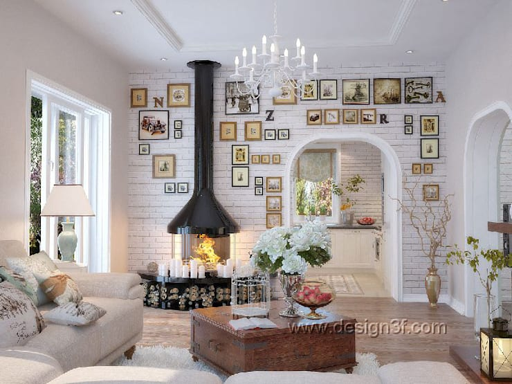 Salas de estilo  por студия Design3F