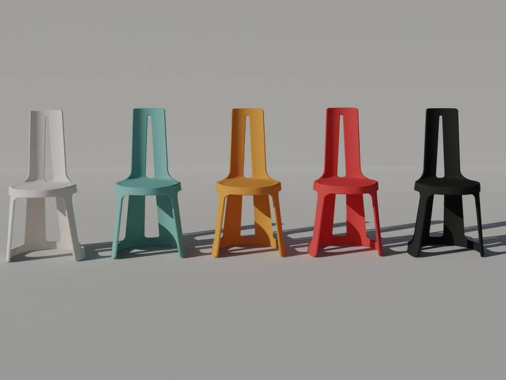 La chaise A: Salon de style de style Moderne par Margot Crosland