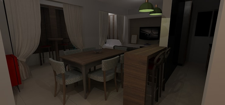 Área Social Integrada: Cozinhas  por RS Design Studio