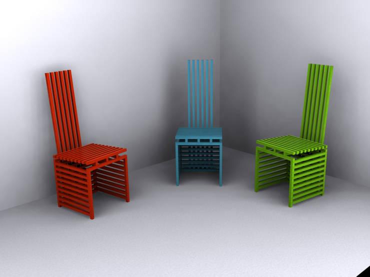 Chopsticks chair - color series:  de style  par  - I'MLC
