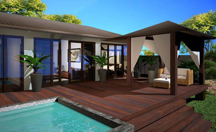 PHUKET-THAÏLANDE: Maisons de style  par AC architecture