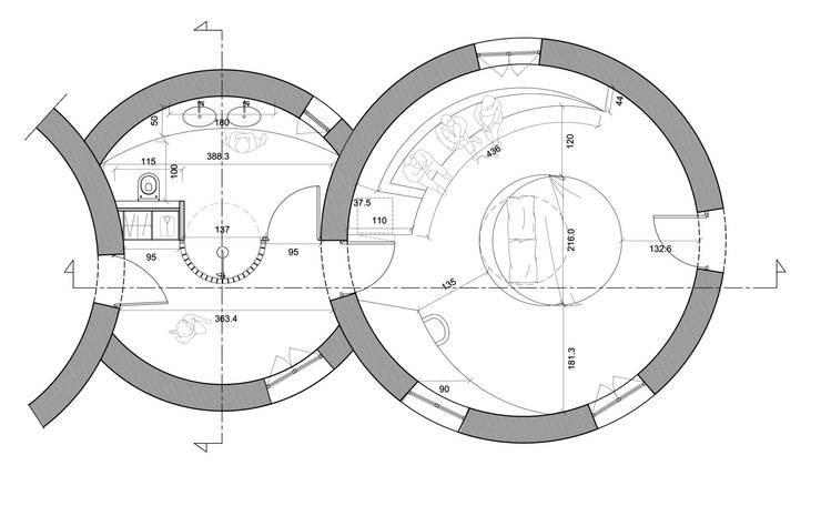 Plan Chambre: Maison de style  par AC architecture