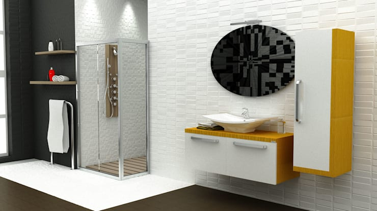MAESTA BATHROOM FURNITURE – ORO - MAESTA BATHROOMS: modern tarz Banyo