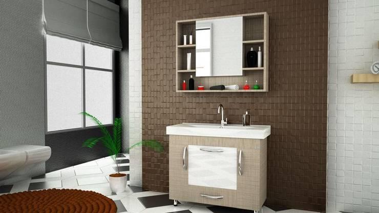 MAESTA BATHROOM FURNITURE – LUCE - MAESTA BATHROOMS: modern tarz Banyo