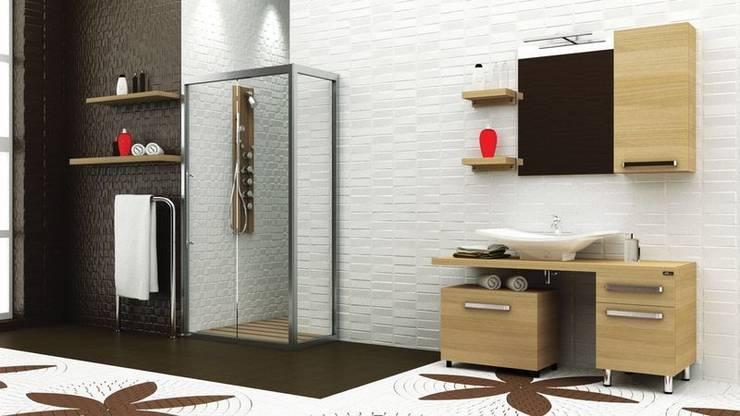 MAESTA BATHROOM FURNITURE – BELLEZZA -MAESTA BATHROOMS: modern tarz Banyo