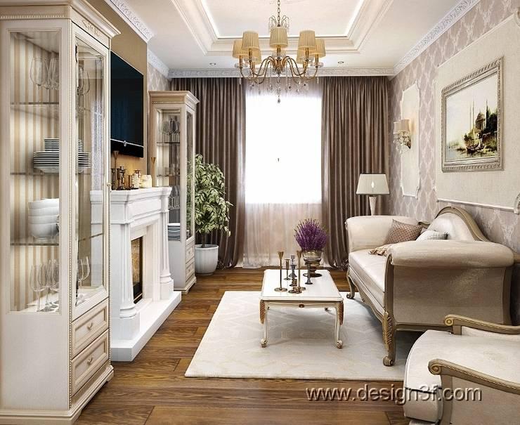 гостиная: Гостиная в . Автор – студия Design3F,