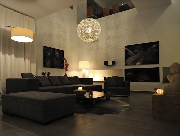 Salón: Salones de estilo  de SH asociados - arquitectura y diseño