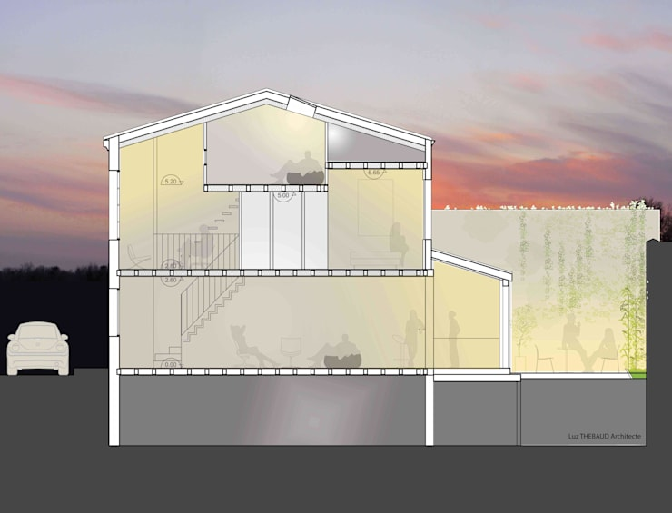 Maison en long:  de style  par Anne-Luz Thébaud