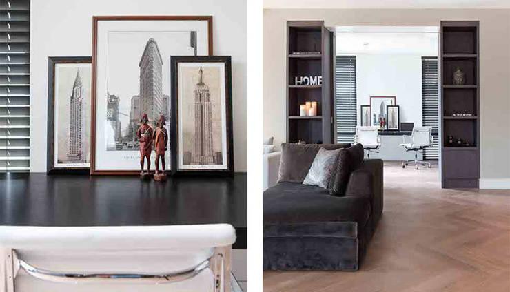 wonen en werken op 1 plek:  Woonkamer door choc studio interieur,