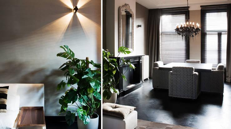 wonen in hotelsfeer: moderne Woonkamer door choc studio interieur