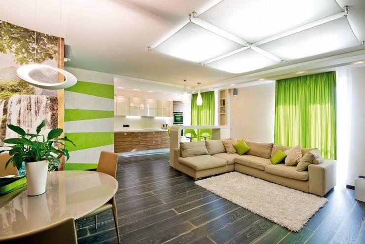 Квартира в Эко стиле: Гостиная в . Автор – Студия дизайна