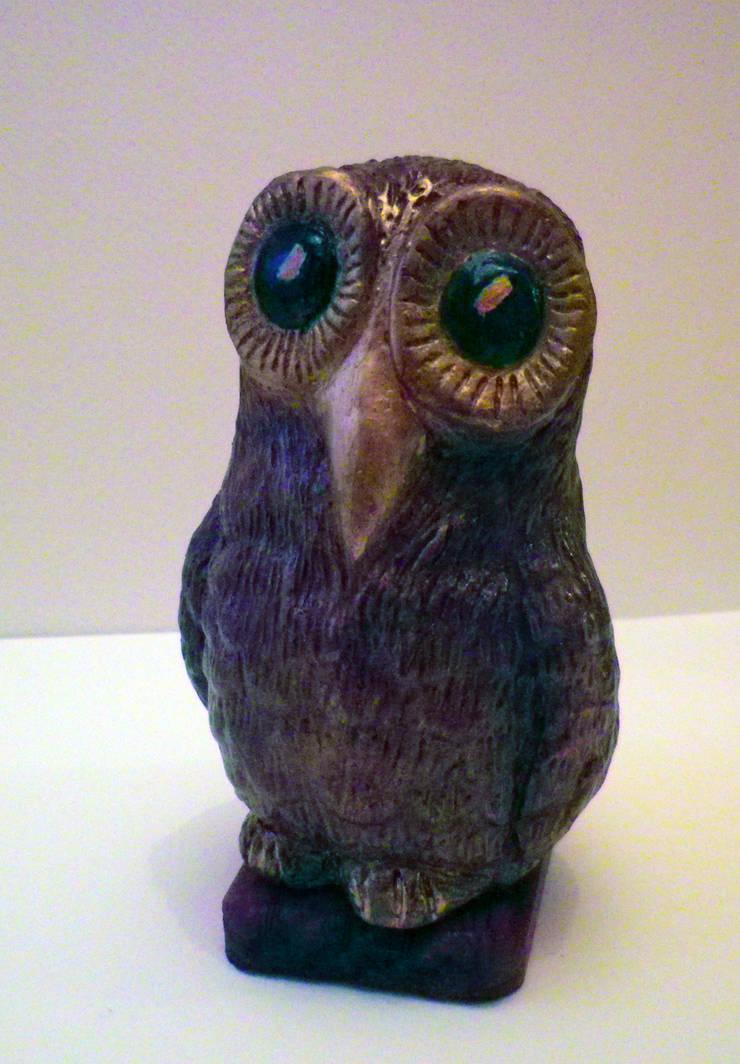 La chouette aux grands yeux: Art de style  par Atelier d'artiste SYRIEX RD