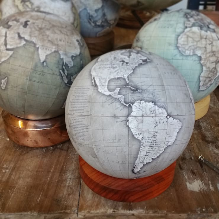 A Charcoal Albion Desk Globe finished:  Household by Bellerby and Co Globemakers