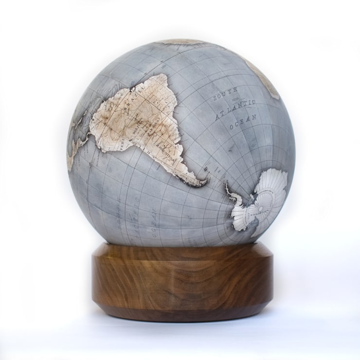 Cool Blue Mini Desk Globe with Standard Base:  Living room by Bellerby and Co Globemakers