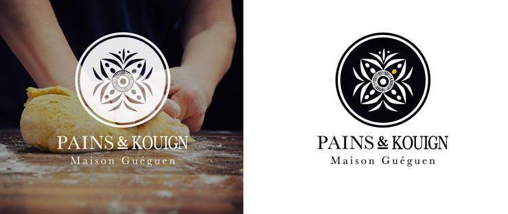 Boulangerie Pains & Kouign à Quimper: Espaces commerciaux de style  par A l'Ouest