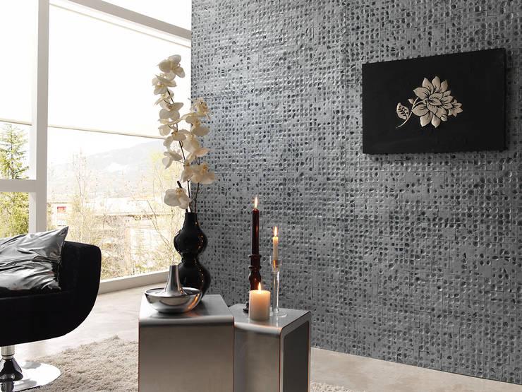 PANEL DREAMS AZUL PLATA: Oficinas y tiendas de estilo  de PANELPIEDRA