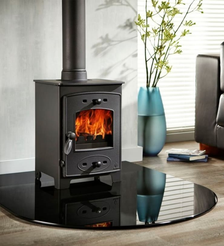 Aarrow Acorn View 4 Wood Burning / Multi Fuel Stove:  Living room by Direct Stoves