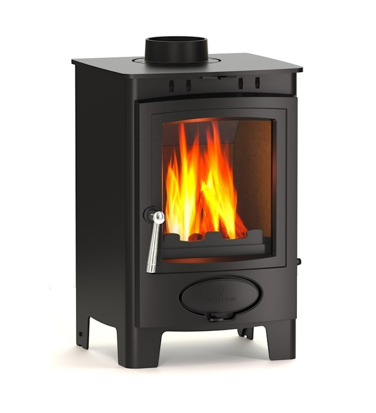 Aarrow Ecoburn Plus 5 Wood Burning / Multi Fuel Stove:  Living room by Direct Stoves