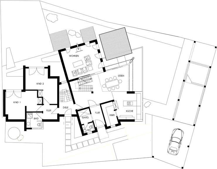 Grundriss Erdgeschoss:   von aaw Architektenbüro Arno Weirich