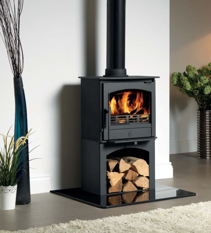 ACR Earlswood DEFRA Approved Wood Burning / Multi Fuel Logstore Stove:  Living room by Direct Stoves