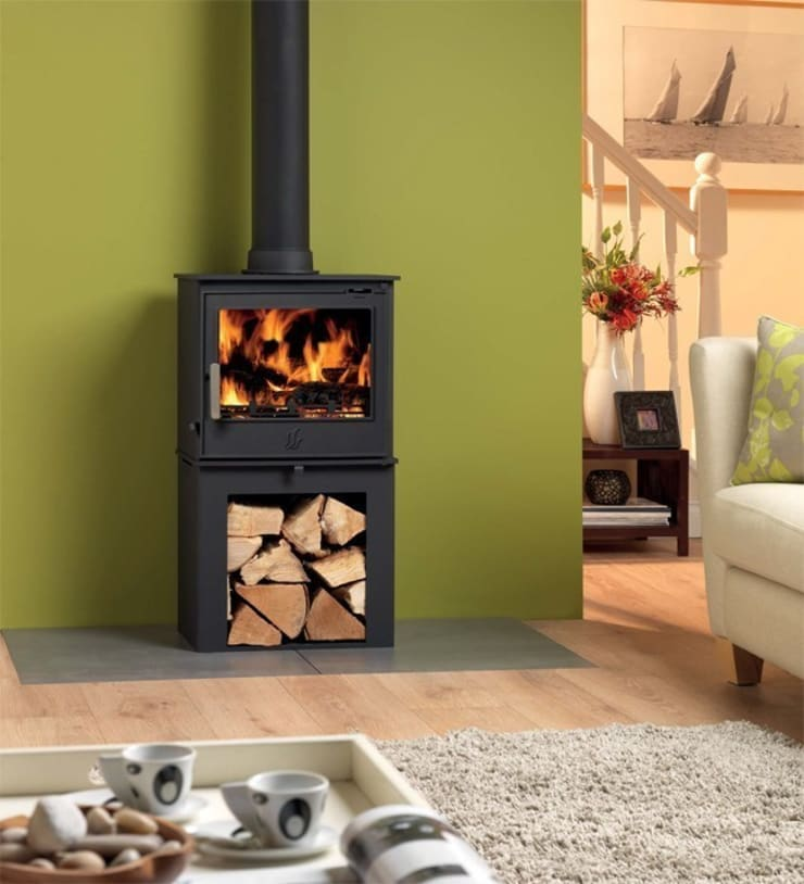 ACR Malvern DEFRA Approved Wood Burning / Multi Fuel Logstore Stove:  Living room by Direct Stoves