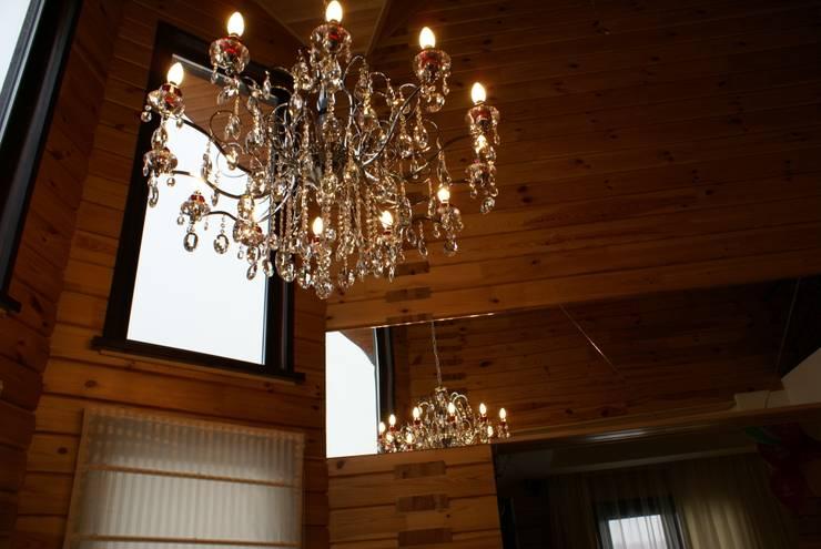 Деревянный дом: Столовые комнаты в . Автор – Студия дизайна