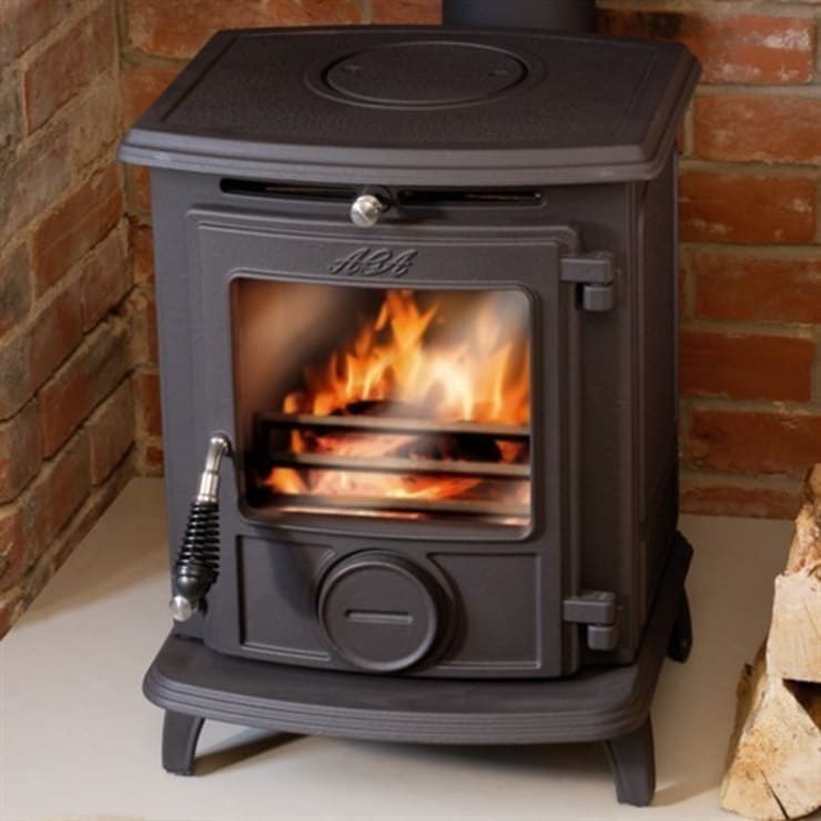 AGA Little Wenlock Classic Wood Burning / Multi Fuel Stove:  Living room by Direct Stoves