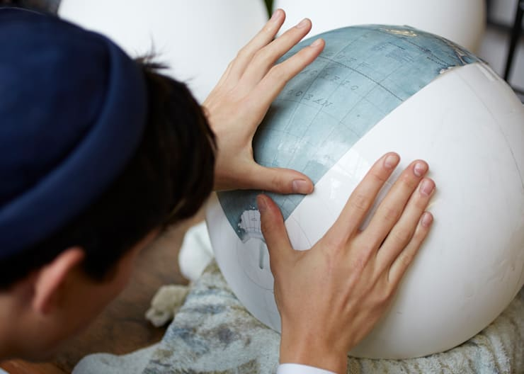 Livingstone being made by Bellerby & Co at London studio:   by Bellerby and Co Globemakers