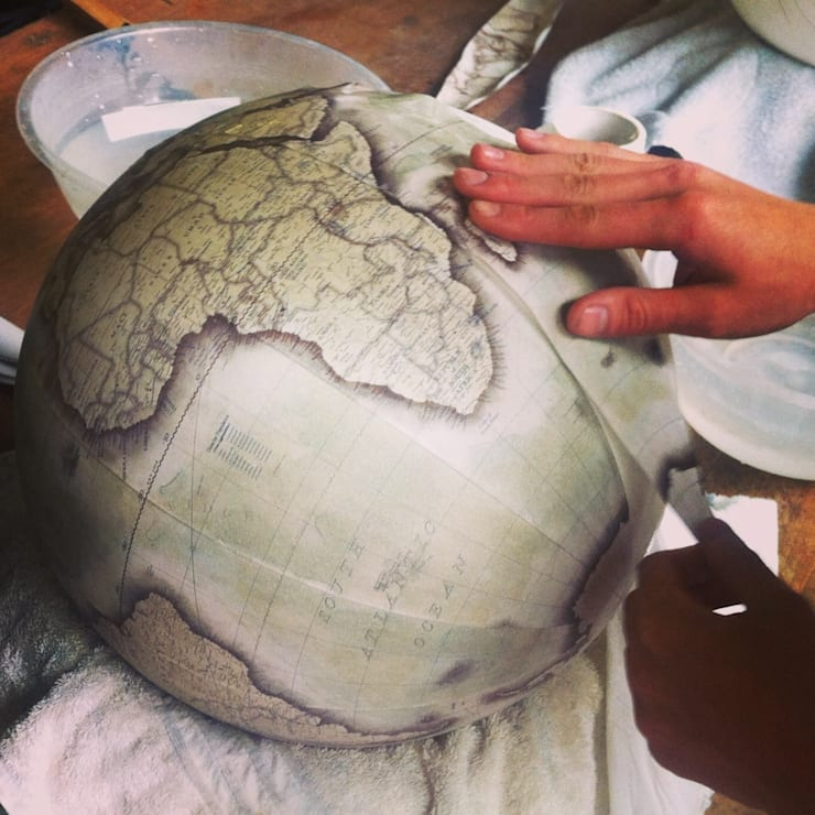 Livingstone Globe Being Made at Bellerby & Co:   by Bellerby and Co Globemakers