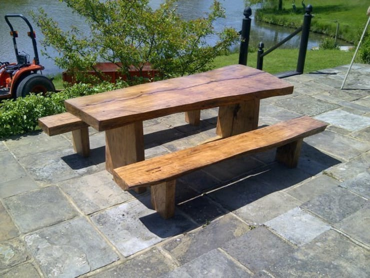 Teak Garden Furniture:  Garden  by Mango Crafts