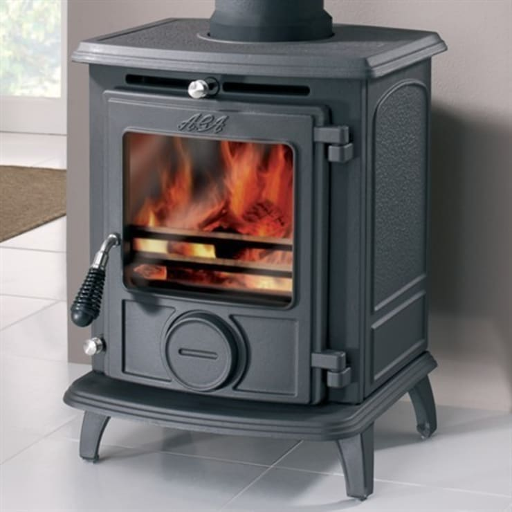 AGA Little Wenlock Classic SE Wood Burning / Multi Fuel Stove:  Living room by Direct Stoves