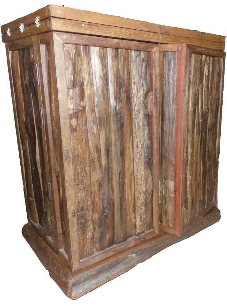 Acacia/Teak Furniture:  Wine cellar by Mango Crafts
