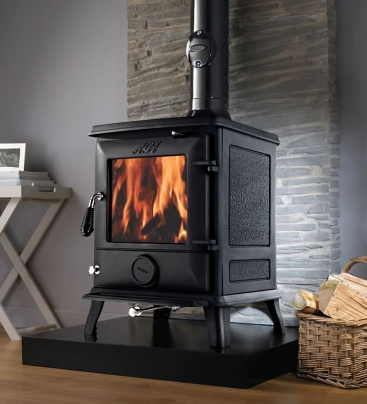 AGA Ludlow Wood Burning / Multi Fuel Stove:  Living room by Direct Stoves