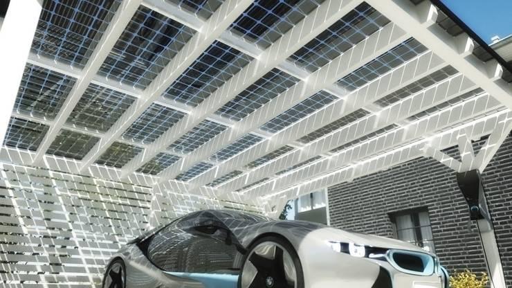 Garage/Rimessa in stile  di Solarterrassen & Carportwerk GmbH
