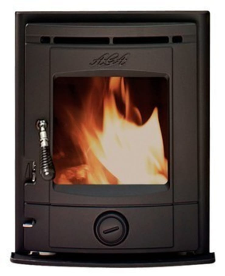 AGA Stretton Inset SE Wood Burning / Multi Fuel Stove:  Living room by Direct Stoves