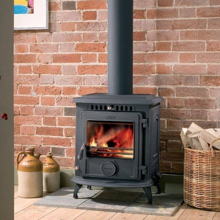AGA Much Wenlock Classic Wood Burning / Multi Fuel Stove:  Living room by Direct Stoves