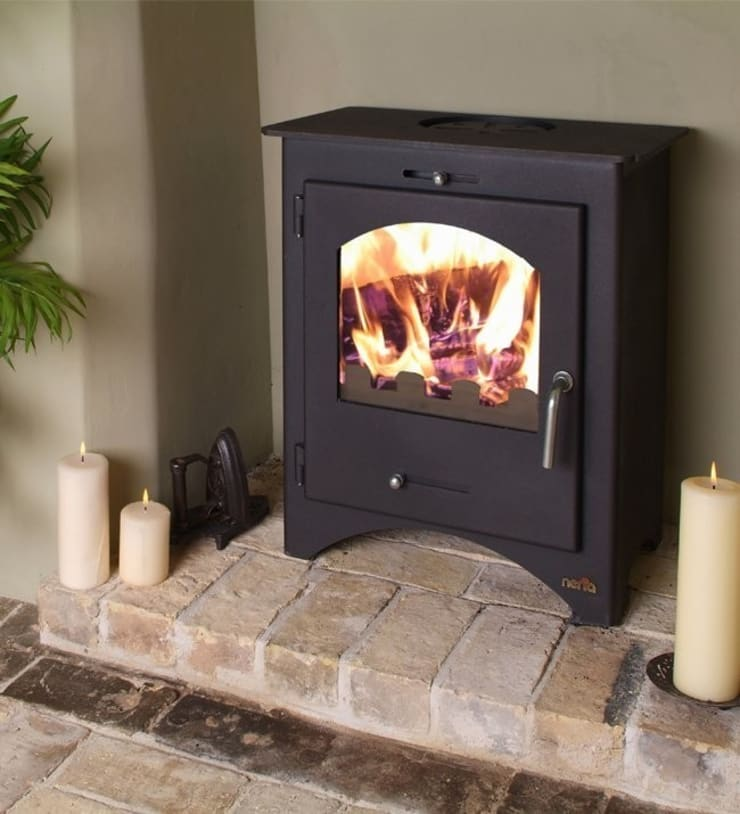 Bohemia 40 Multi Fuel Stove:  Living room by Direct Stoves