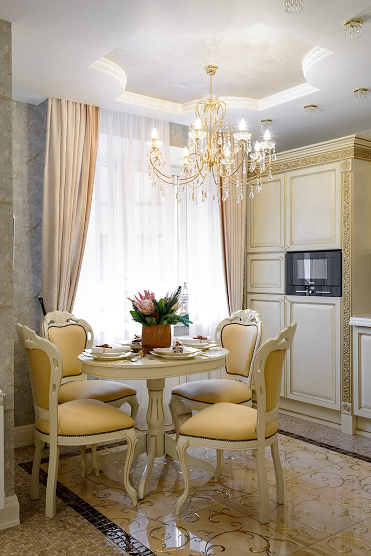 классика в квартире: Гостиная в . Автор – Студия дизайна
