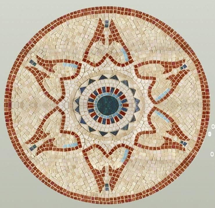 Rosace Cosmogonia: Murs & Sols de style  par Steeve Jurion