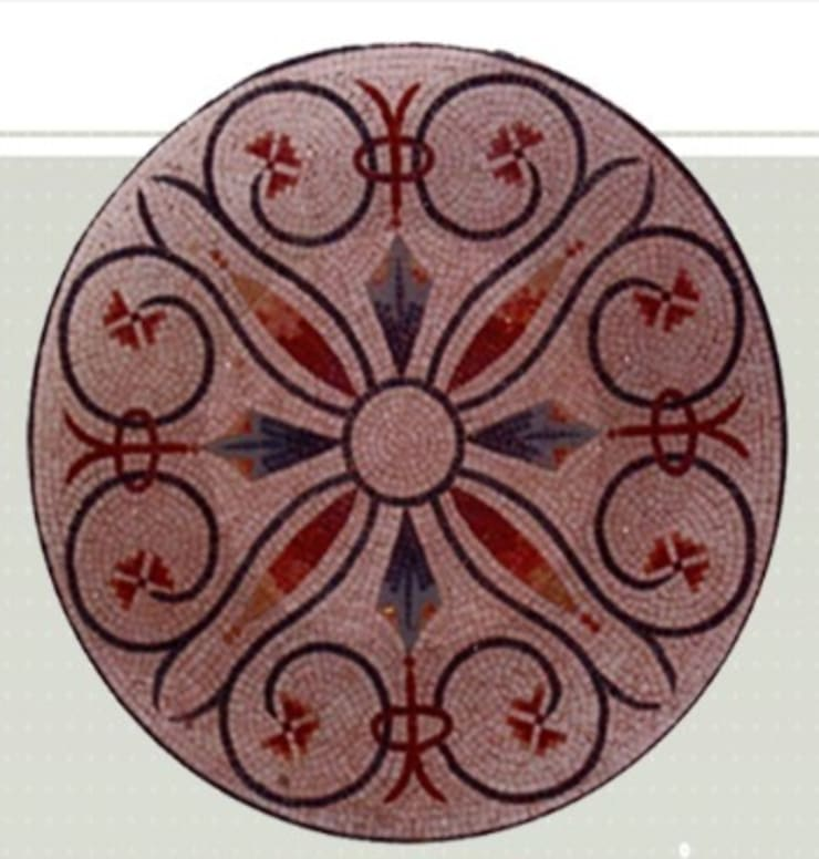 Rosace Cuore Porpora: Murs & Sols de style  par Steeve Jurion